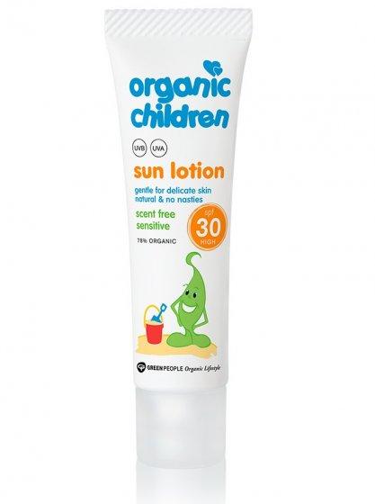 Green People Children's Sun Lotion SPF30 30ml Travel