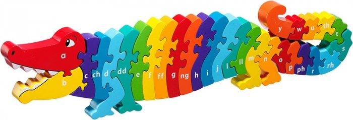 CYMRAEG Lanka Kade Welsh Alphabet Conga The Crocodile A-Y Jigsaw
