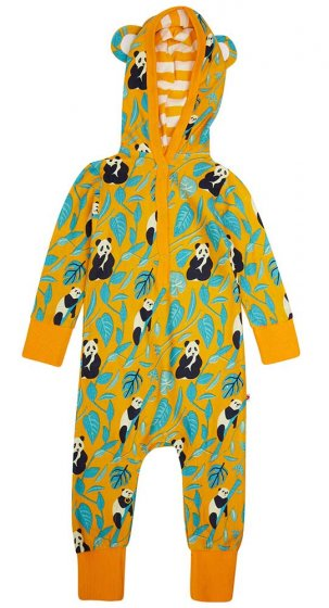 Piccalilly Panda hooded playsuit