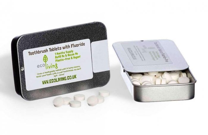 Ecoliving Toothpaste Tablets with Refillable Tin