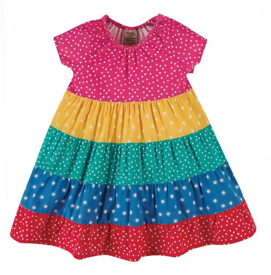 Frugi Dorothy Swing dress babies and toddlers multicoloured panel dress