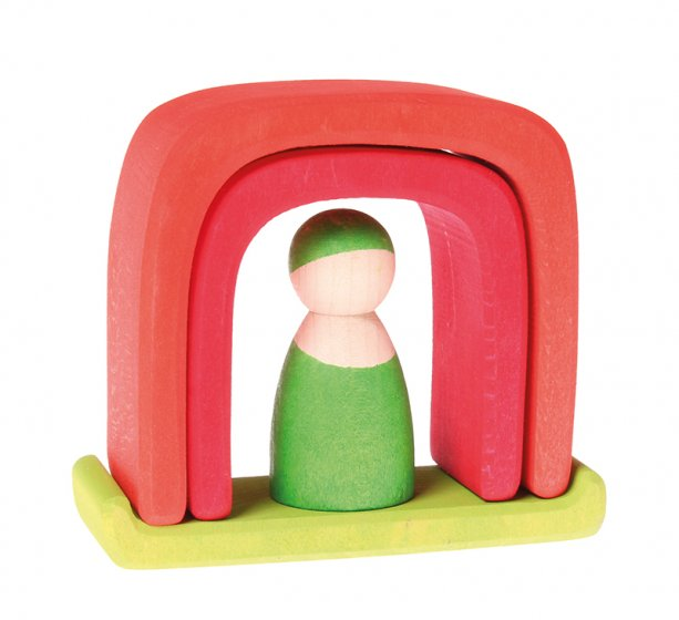 Grimm's Small House with Peg Doll