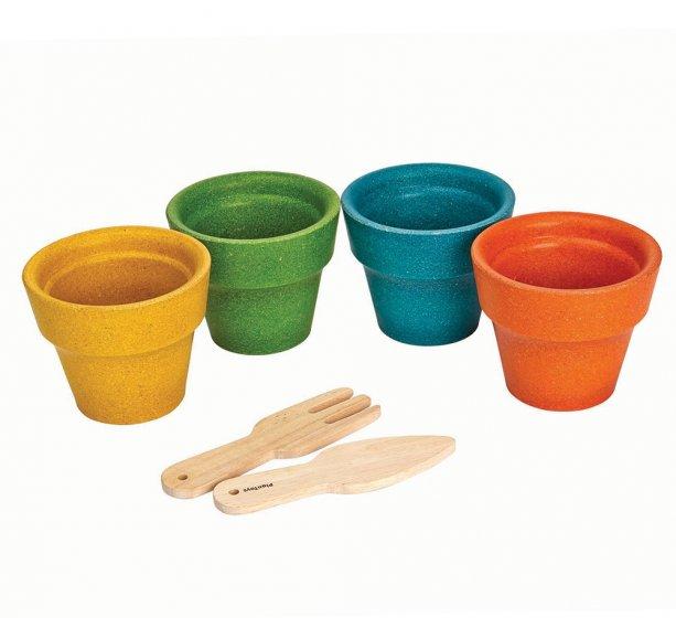 Plan Toys Four Flower Pots Set