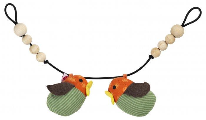 Franck & Fischer Orange Bird Pram Rattle