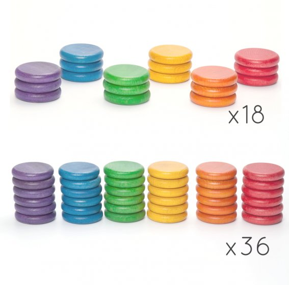 Grapat Extras Rainbow Coins 6 Colours