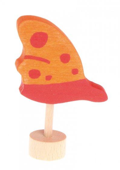Grimm's Orange Butterfly Decorative Figure