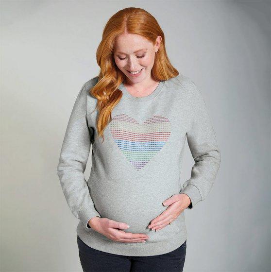 Frugi Grey Marl Rainbow Bryony Maternity Jumper