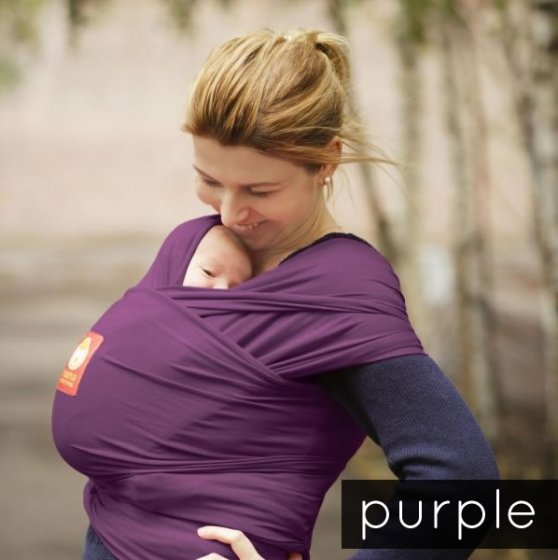 Hana Organic Baby Wrap- Shorty-Purple