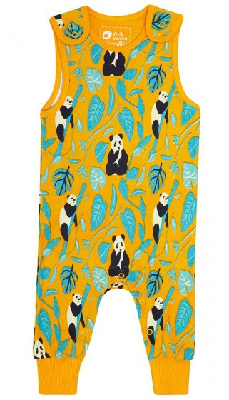 Piccalilly Panda Dungarees