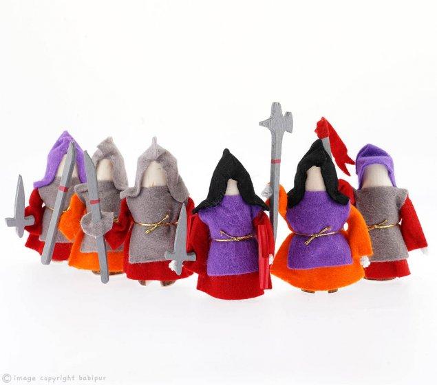 Magic Wood Six Steadfast Knights - Red