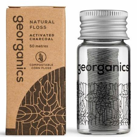 Georganics Activated Charcoal Natural Dental Floss
