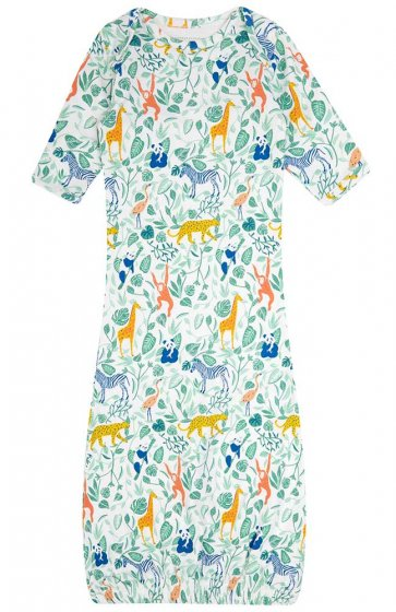 Piccalilly Animal Adventure Baby Nightgown