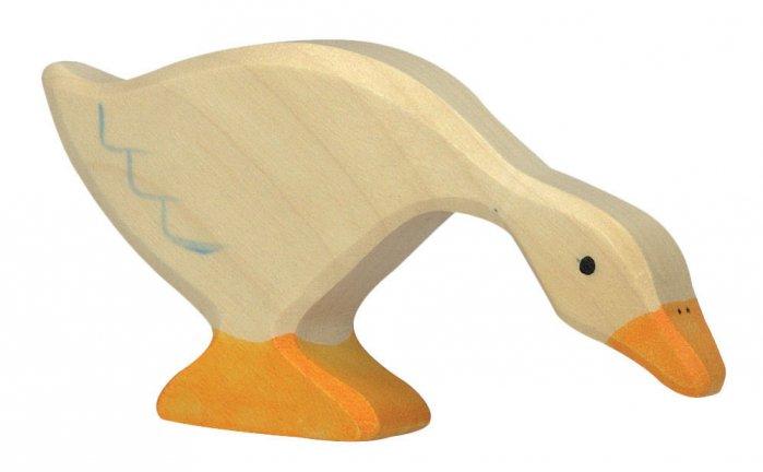 Holztiger Feeding Goose