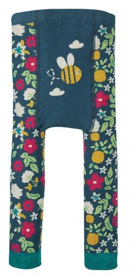 Frugi little knitted leggings bee design