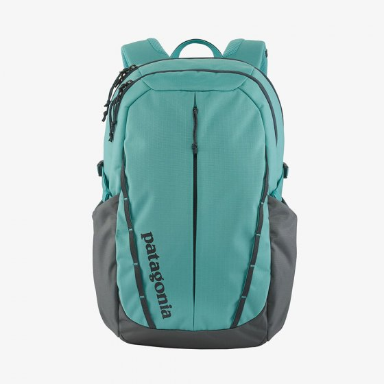 Picture of the Iggy blue and grey Refugio pack (front view). Picture background is white.