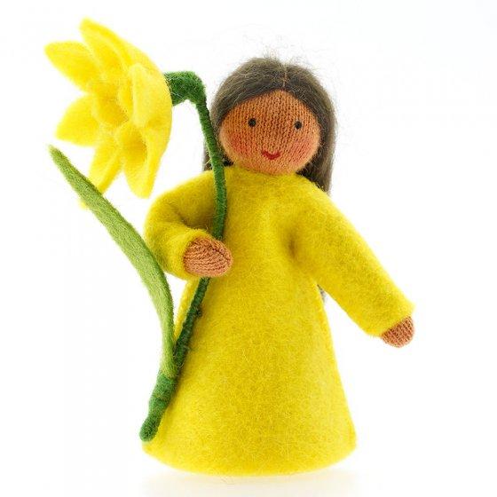 Ambrosius Daffodil Fairy Dark Brown Skin 8-10cm