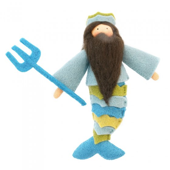 Ambrosius King Neptune light brown skin fairy doll on a white background