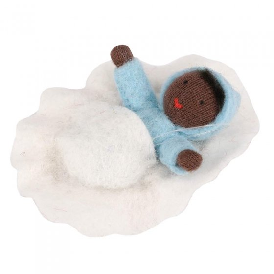 Ambrosius Blue Baby Black Skin In Walnut