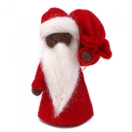 Ambrosius Father Christmas Black Skin 8-10cm