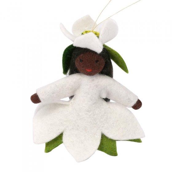 Ambrosius Christmas Rose Fairy Hanging Decoration Black Skin