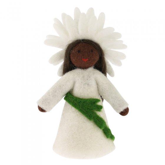Ambrosius Oxeye Daisy Crown Fairy Dark Brown Skin 7-8cm