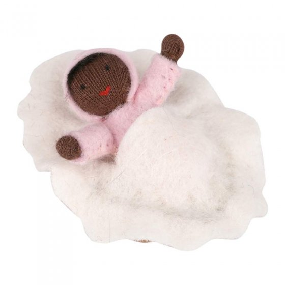 Ambrosius Pink Baby Black Skin In Walnut