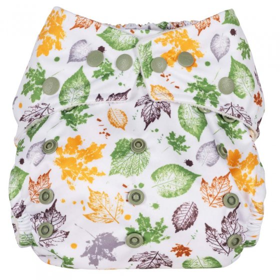 Baba + Boo One-Size Nappy - Leaves