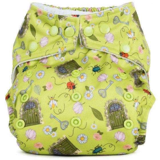Baba + Boo One-Size Nappy - Secret Garden