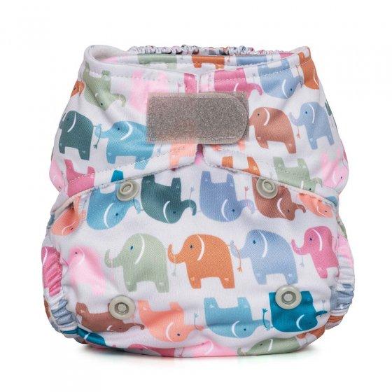 Baba & Boo elephant print newborn nappy.