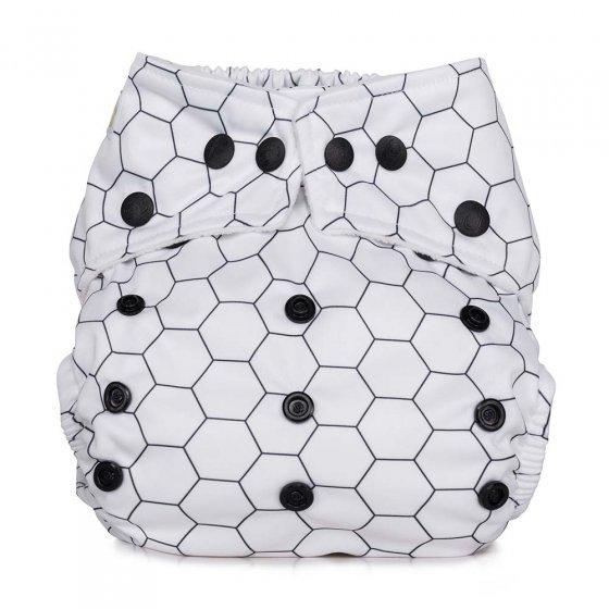Baba & Boo honeycomb design one size pocket nappy.