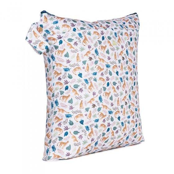 Baba & Boo cheetah print medium nappy bag.