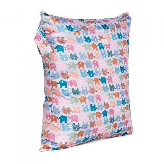 Baba & Boo elephant print medium nappy bag.