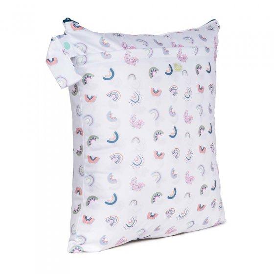 Baba & Boo rainbow print medium nappy bag.