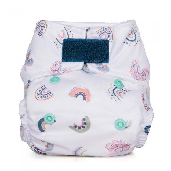 Baba & Boo rainbow print newborn nappies.