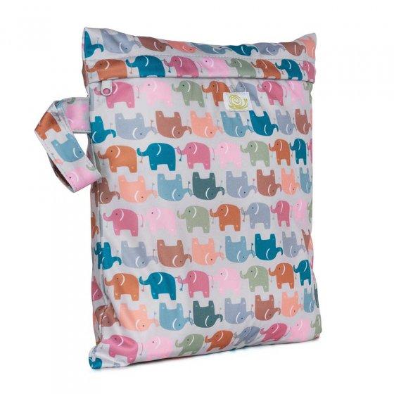 Baba & Boo elephant print small nappy bag.