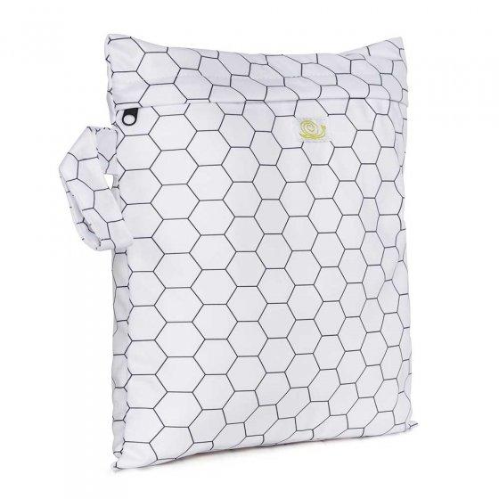 Baba & Boo honeycomb print small nappy bag.
