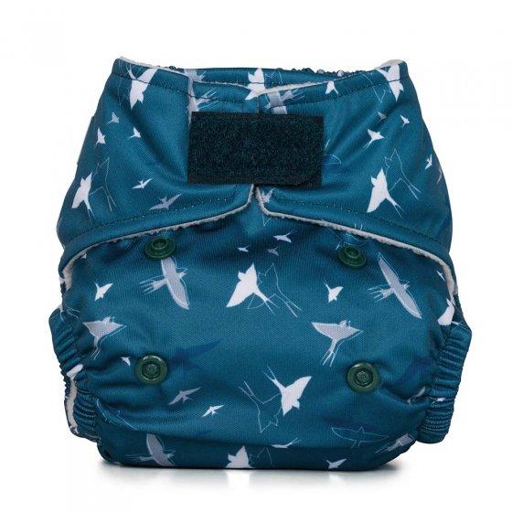 Baba & Boo swallows design newborn nappy.