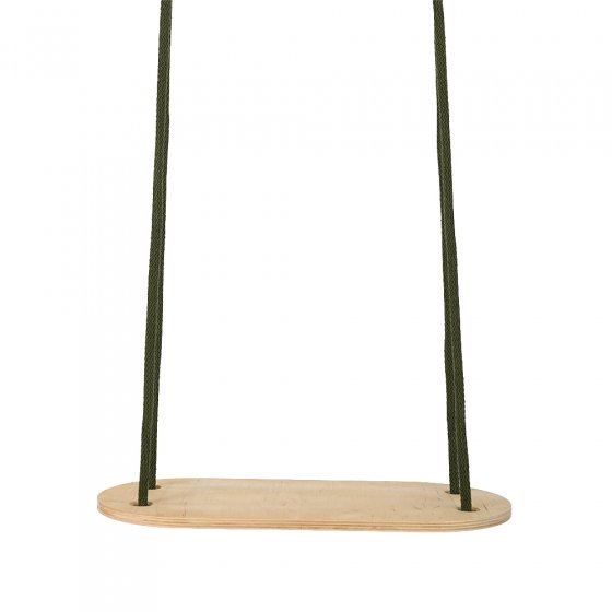 Babai khaki transportable rope swing hanging on a white background