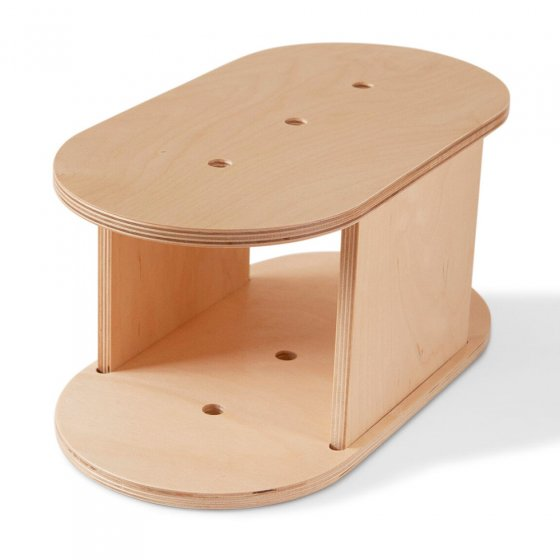 Babai eco-friendly natural wood step stool on a white background
