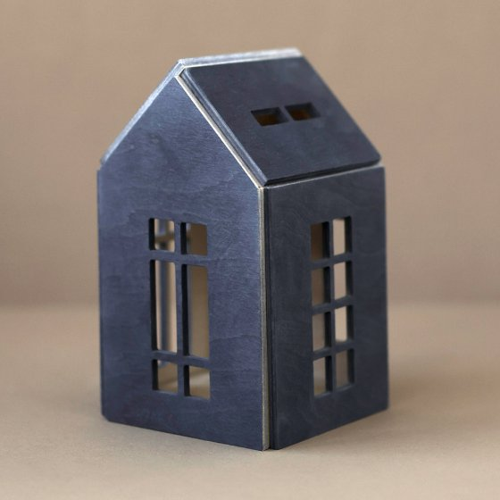 Babai eco-friendly wooden dollhouse toys northern sea on a grey background