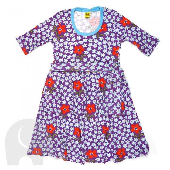 Duns Adult Flower Amethyst High Waist Scoop Neck Dress