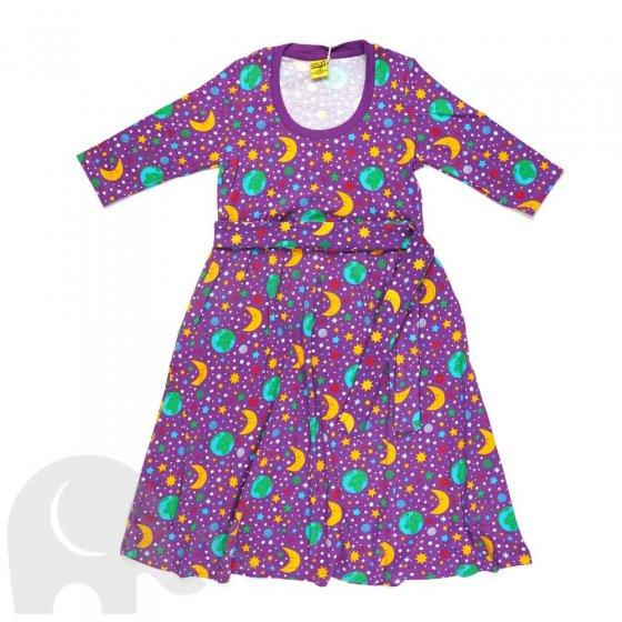 Duns Adult Mother Earth Violet High Waist Scoop Neck Dress