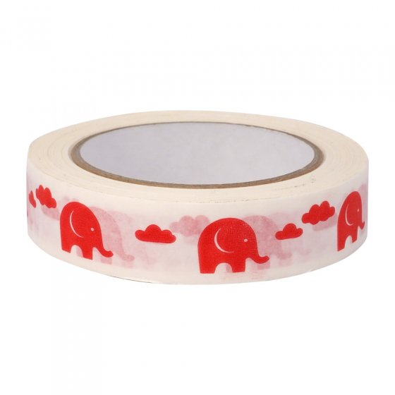 Babipur Elephant Eco Tape - Red