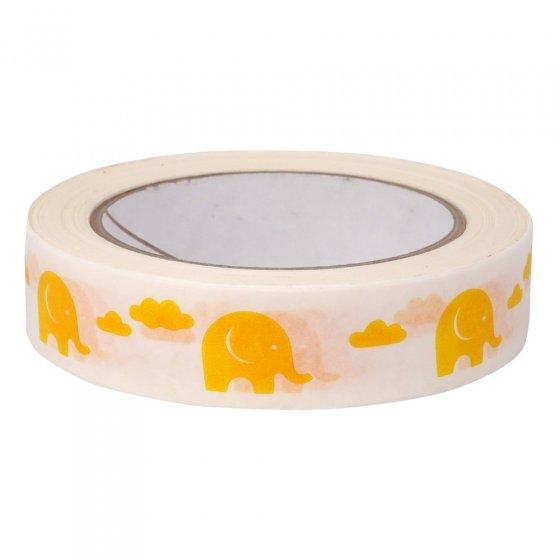 Babipur Elephant Eco Tape - Yellow