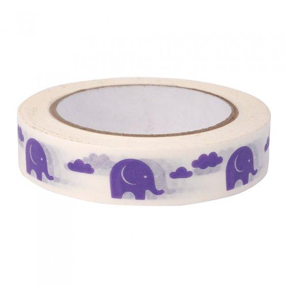 Babipur Elephant Eco Tape - Purple