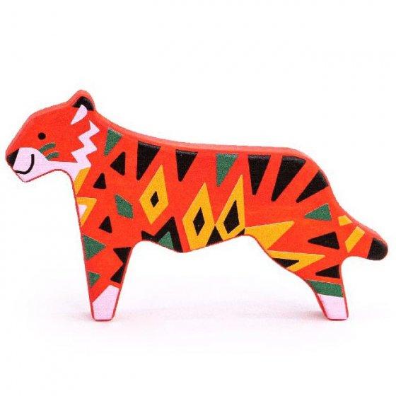 bajo endangered animals wooden toy figure tiger