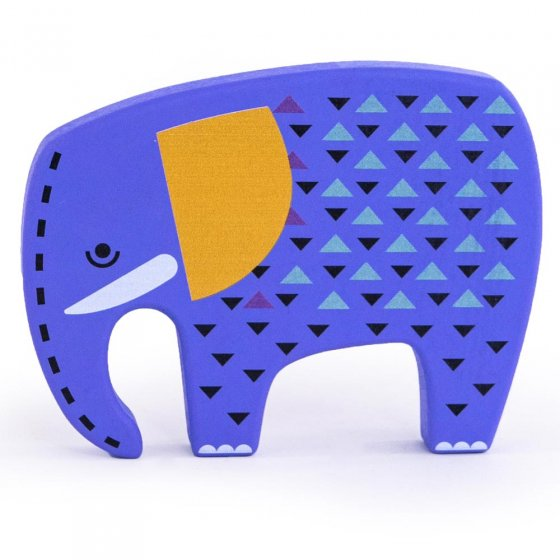 bajo painted wooden toy elephant figure