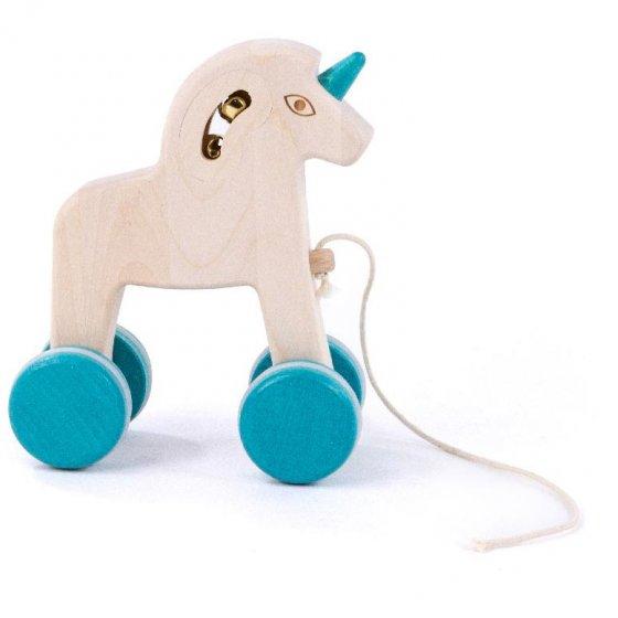 Bajo Pull Along Unicorn