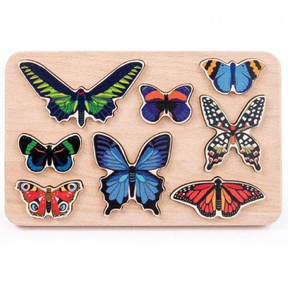 bajo wooden toy butterfly shape sorter
