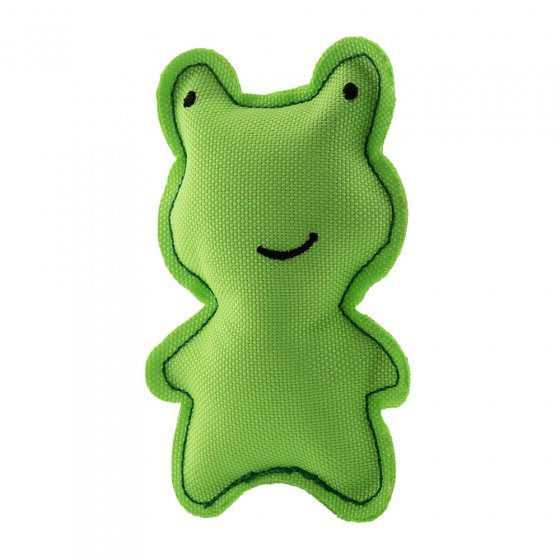 Beco Pets sustainable natural catnip frog pet toy on a white background